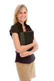 Business woman with portfolio Stock Image