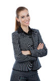 Business woman portrait. Arms crossed, confident smile. Royalty Free Stock Photos