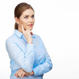 Business woman portrait. Beautiful model. Stock Photography