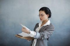 Business woman portrait. Beautiful stylish office worker stock image
