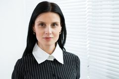 Business woman portrait. Crossed arms Royalty Free Stock Photos