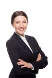 Business woman portrait . Crossed arms .Isolated Stock Photos