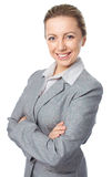 Business woman portrait, crossed arms Stock Photo