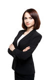 Business woman portrait. Crossed arms. Royalty Free Stock Photos