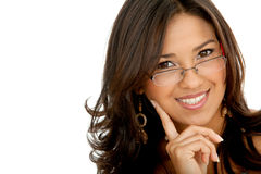 Business woman portrait with glasses Stock Photo