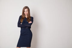 Business woman portrait of hands folded Stock Photography