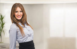 Business woman portrait in her office Stock Photography
