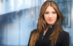 Business woman portrait in her office Royalty Free Stock Image