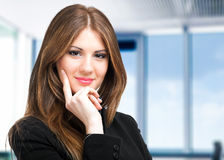 Business woman portrait in her office Royalty Free Stock Photography