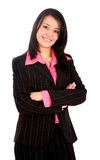 Business woman portrait - isolated Stock Photography