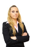 Business woman portrait isolated on white royalty free stock photo