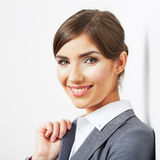 Business woman portrait isolated on white Royalty Free Stock Photography