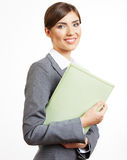 Business woman portrait isolated on white Stock Photo