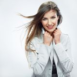 Business woman portrait. Long hair Stock Photography