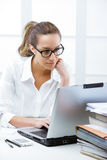 Business woman portrait in an office Royalty Free Stock Photography