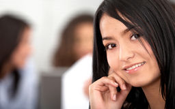 Business woman portrait in an office Royalty Free Stock Images