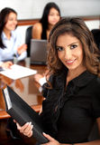 Business woman portrait in an office Royalty Free Stock Photos