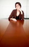 Business woman portrait in an office Royalty Free Stock Photo