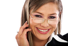 Business woman portrait smiling Royalty Free Stock Photos