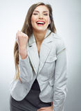 Business woman portrait. Success business. Female model. Royalty Free Stock Photo