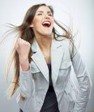 Business woman portrait. Success business. Female model. Stock Photography