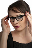 Business woman portrait wearing glasses Royalty Free Stock Images