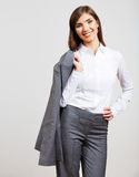Business woman portrait  on white Stock Photography