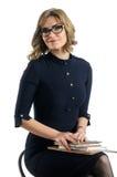 Business woman portrait. Young caucasian business woman portrait Stock Images