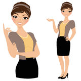 Business woman pose set Royalty Free Stock Photo