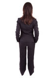 Business woman posing backwards Royalty Free Stock Photography