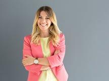 Business woman posing royalty free stock photos