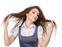 Business woman posing Stock Images
