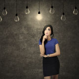 Business woman positive thinking royalty free stock photography