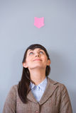 Business Woman Post It Royalty Free Stock Images