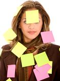 Business woman - post its Stock Images