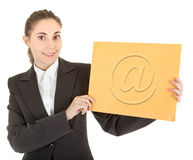 Business woman with post papers Stock Photo