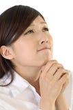 Business woman pray Stock Photos