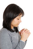 Business woman praying Royalty Free Stock Photos