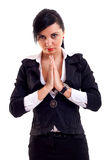 Business woman praying Stock Image