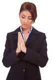 Business woman praying Royalty Free Stock Images