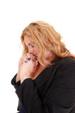 Business woman praying. royalty free stock photos
