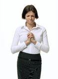Business woman praying about her work Stock Images