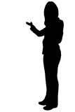 Business woman presening silhouette Stock Photos