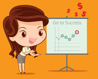 Business woman present Royalty Free Stock Image