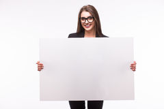 Business woman present Stock Image