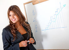 Business woman presentation Stock Image