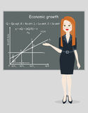 Business woman presentation economic growth Royalty Free Stock Images