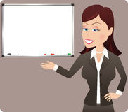 Business woman presentation Royalty Free Stock Photography