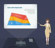 Business woman presentation speech with projector Royalty Free Stock Images
