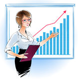 Business woman at a presentation Royalty Free Stock Photo